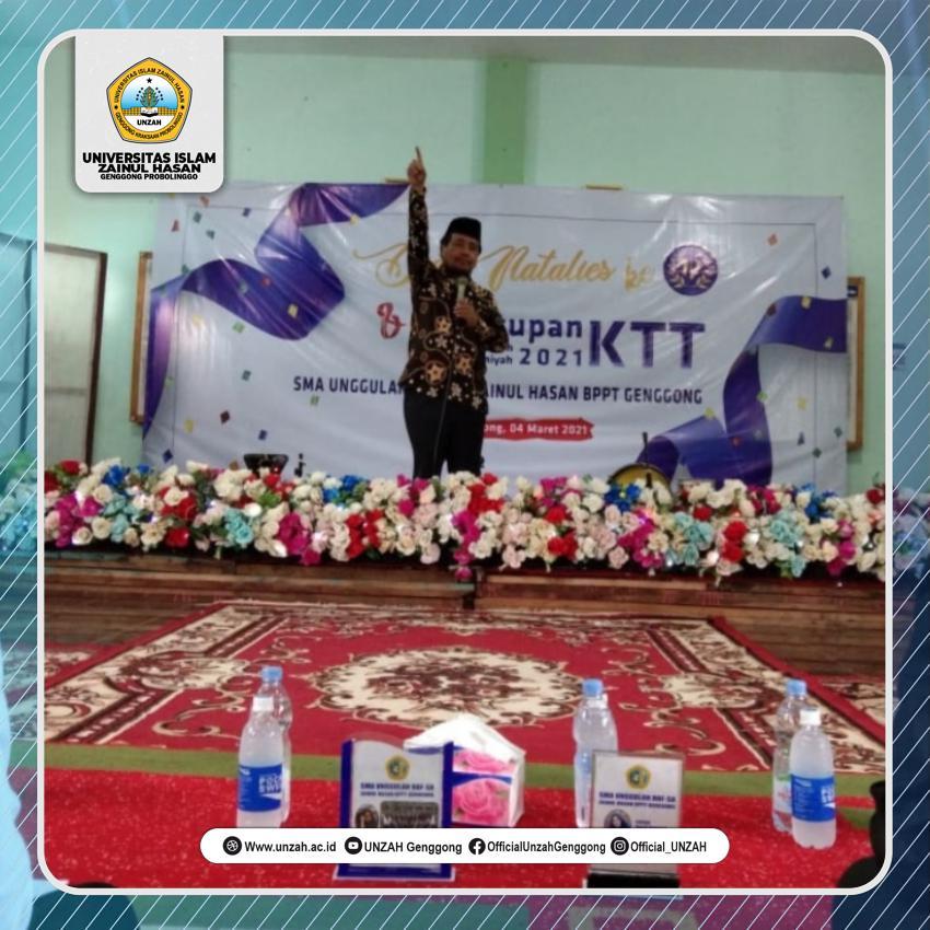 Rektor UNZAH Tutup Acara KTT 2021 Di SMA Unggulan Hafshawaty.