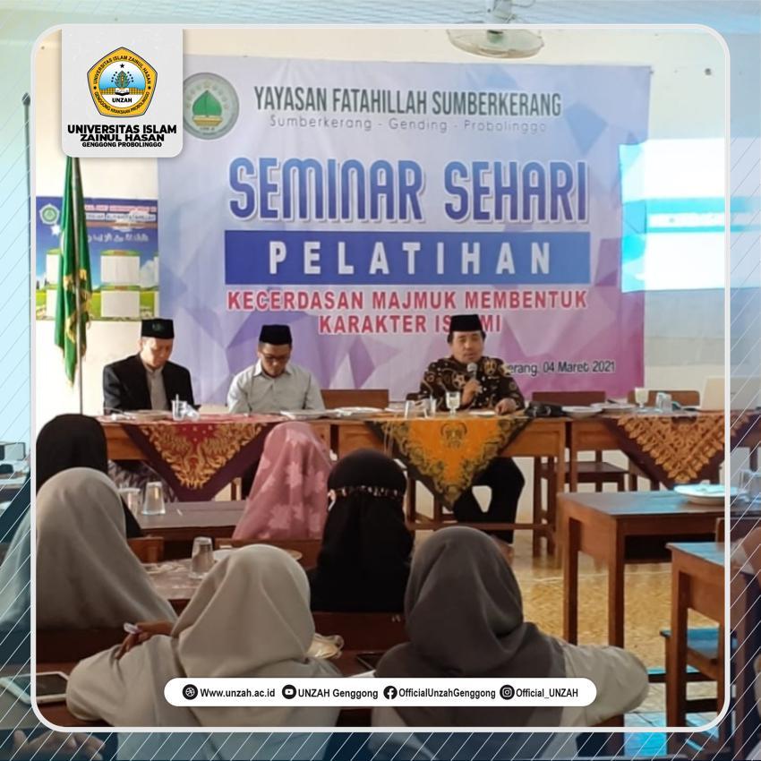 Berperan Aktif Tingkatkan Mutu Pendidikan, Rektor UNZAH Warnai Workshop Di Yayasan Fatahillah Sumberkerang Probolinggo.