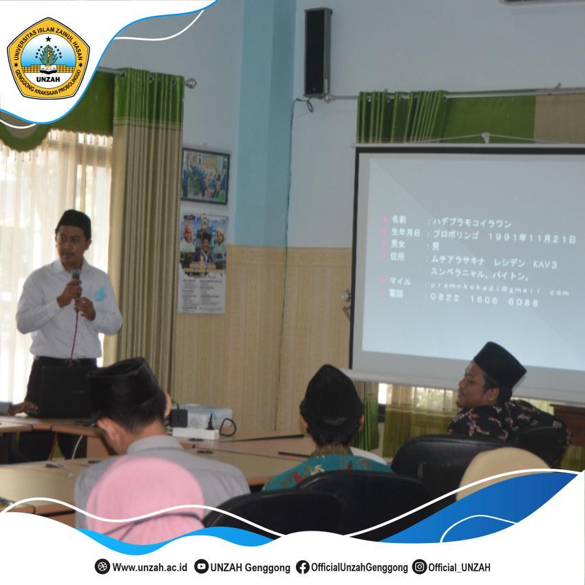 Siapkan Genersi Emas, Rektor UNZAH Seleksi Calon Dosen Lembaga Kursus Intensif Bahasa Asing Secara Ketat