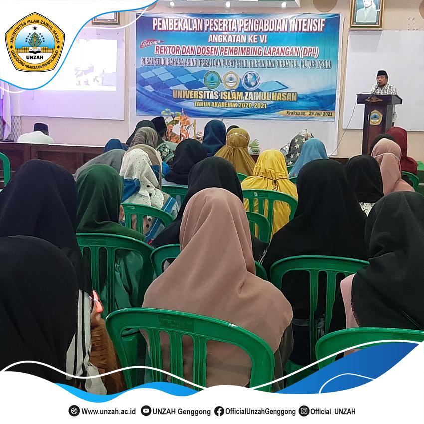 Siapkan Mahasiswa Menjadi Pendidik, UNZAH Gelar Pembekalan Mahasiswa Pengabdian Intensif Bahasa Asing Dan Kitab Kuning.