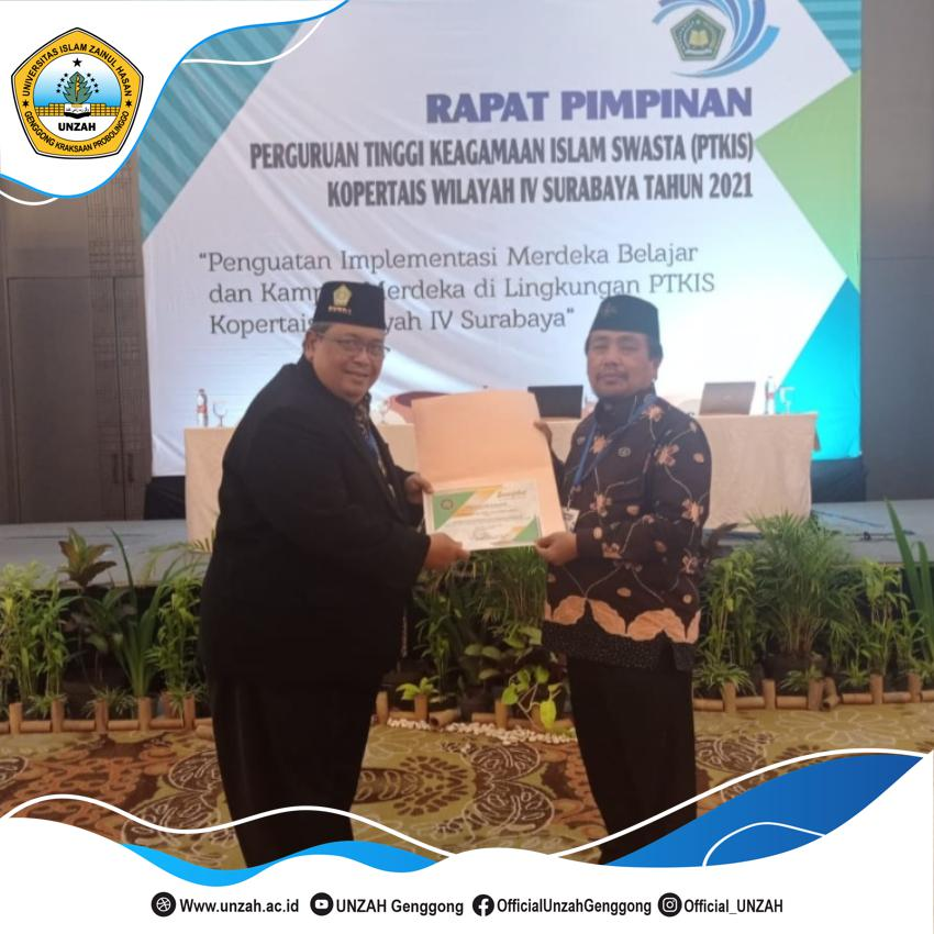 Menjadi Universitas Islam Pertama Dibawah Kemenag RI Dan Meraih Penghargaan Kopertais Award 2021, UNZAH Torehkan Sejarah.